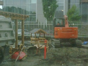 Outdoor Child Care Play Area Under Construction