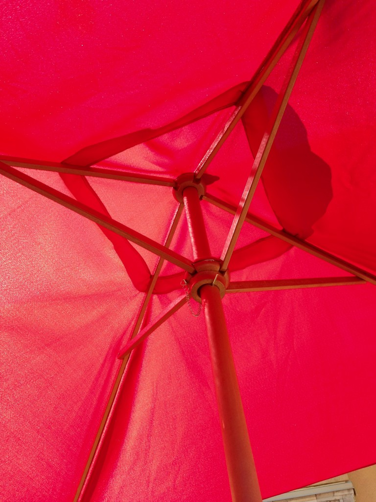 Under the Patio Umbrella