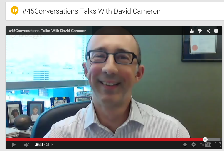 Talking with David Cameron