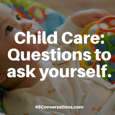 Child care: questions to ask yourself
