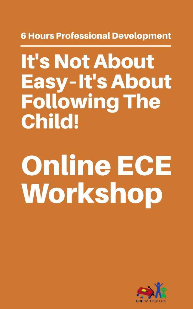 online ece workshops - start now!!